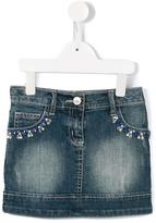 Miss Blumarine embellished denim mini skirt