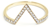 ONE JEWELRY Vicky 14K Diamond Deep V RIng