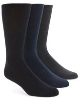 Calvin Klein Cotton Blend Socks (Assorted 3-Pack)