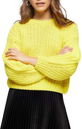 Topshop Cropped Wool-Blend Sweater