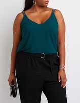Charlotte Russe Plus Size Beaded Strap Tank Top