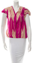 By Malene Birger Silk Short Sleeve Top