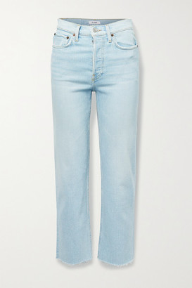 RE/DONE + Net Sustain 70s Stove Pipe Comfort Stretch High-rise Straight-leg Jeans - Light denim