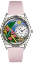 Whimsical Watches Women's S1210007 Dragonflies Pink Leather Watch