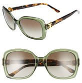 Tory Burch Women's 57Mm Oversized Sunglasses - Black