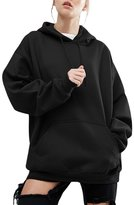 YesFashion Women Plus Size Casual Hoodie Pocket Loose Sweater XL