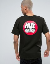 Huf T-shirt With Worldwide Back Print