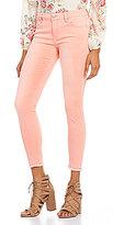 Celebrity Pink Fray Hem Ankle Skinny Jeans
