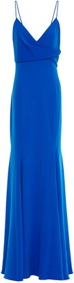 Jay Godfrey Fluted Draped Stretch-crepe Gown
