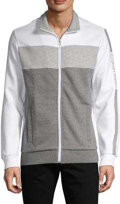 Calvin Klein Colorblock Cotton-Blend Jacket