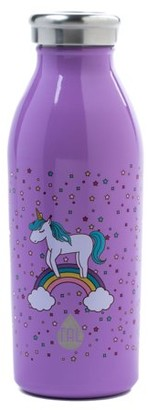 Tal 12 Ounce Stainless Steel Double Wall Vacuum Insulated Modern Unicorn Print Water Bottle