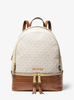 MICHAEL Michael Kors Rhea Medium Logo and Leather Backpack