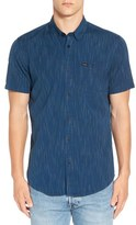 RVCA 'Descent' Trim Fit Short Sleeve Woven Shirt