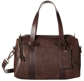 Filson Weatherproof Leather Satchel (Sierra Brown) Satchel Handbags