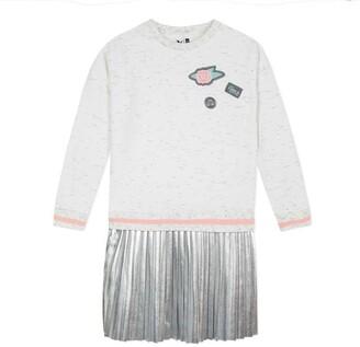 3 Pommes Kid Girl Dress Silver