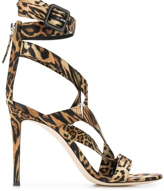 Giuseppe Zanotti leopard strappy sandals
