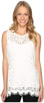 Karen Kane Side-Slit Lace Tank Top