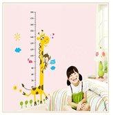 HN Hot Selling Giraffe Children Room Decor Wall Stikers Kindergarten Height Growth Chart Kids DIY Sticker Rooms/Home Decoration (Color 1)