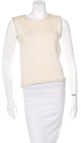 Andrew Gn Mink-Trimmed Wool Sweater