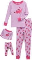 Lilac Dinosaur Pajama Set & Doll Outfit - Toddler & Girls