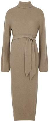 Nanushka Canaan Taupe Wool-blend Dress