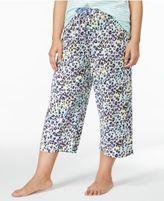 Hue Plus Size Printed Capri Pajama Pants