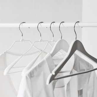 The White Company Knitwear Wide End Hangers Set of 6, White, One Size