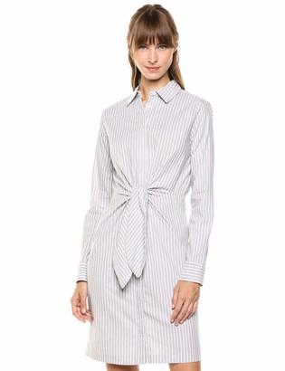 Calvin Klein Women's Tie Waist Shirt Dress