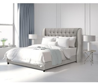 Laurel Foundry Modern Farmhouse Bradman Upholstered Standard Bed Size: California King, Color: Shantung Silver