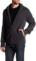 Vince Long Sleeve Knit Zip Wool Blend Jacket