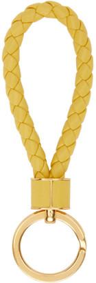 Bottega Veneta Yellow Intrecciato Loop Keychain