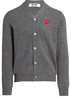 Comme des Garcons Wool Heart Cardigan