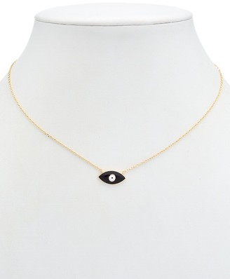 Alanna Bess Limited Collection 14K Over Silver Evil Eye Necklace