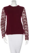 Tory Burch Wool Lace-Accented Top w/ Tags