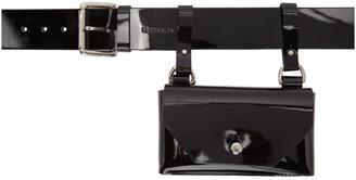 Fleet Ilya Black Patent Pocket Belt