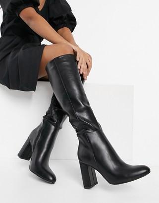 Schuh Dakota block heeled knee boots in black