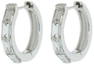 Anita Ko 18kt White Gold Diamond Huggies