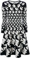 Alexander McQueen bird printed skater dress - women - Polyester/Spandex/Elastane/Viscose/Polybutylene Terephthalate (PBT) - XS