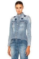 Givenchy Black Star Denim Shirt