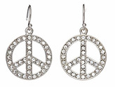 Blu Bijoux Medium Peace Sign Earrings