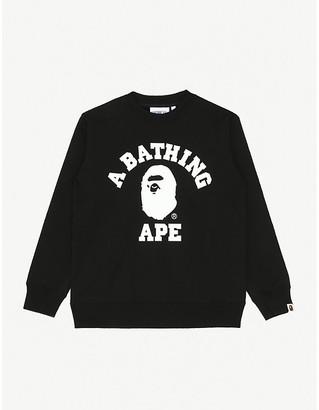A Bathing Ape College branded cotton sweatshirt 9-10 years