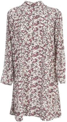 Ganni Printed Crepe Chemisier L/s Dress