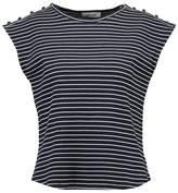 Modstrom SOLOMON Print Tshirt navy/offwhite