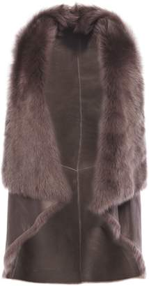 Karl Donoghue Reversible Draped Shearling Vest