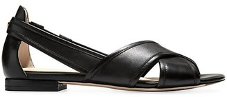 Cole Haan Lewis Cutout Leather Flats
