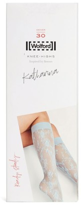 Wolford Katarina Floral Lace Knee-Highs