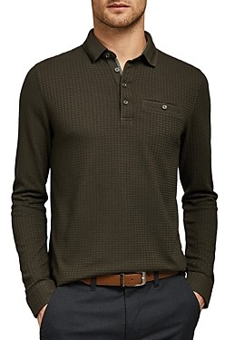 Ted Baker Krispie Textured Long-Sleeve Polo