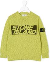 Stone Island Junior intarsia logo jumper
