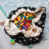 Play Pouch Crosses Printed Toy Storage Bag And Play Mat