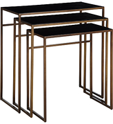 Terence Conran Content by Black Enamel Nest of 3 Tables